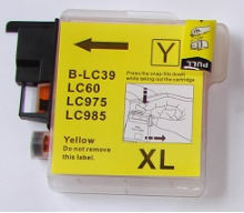 LC39Y Brother Ink Cartridge Compatible Hi-Yield LC39 Yellow