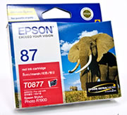 Epson T0877 Ink Cartridge T087 RED