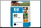 HP40 Inkjet Cartridge 51640A BLACK