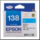 Epson 138 High Yield Ink Cartridge - Cyan- C13T1382