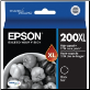 Epson 200 XL Ink Cartridge C13T201192 BLACK HI-Yield 200XL