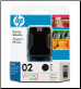HP02 C8721WA Inkjet Cartridge BLACK