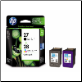 HP CC628AA  No.27 & No.28 Ink Cartridges Twin Pack
