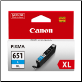 Canon CLI-651 XL Ink Cartridge CYAN