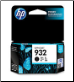 HP Officejet 932 Ink Cartridge Std-Yld Black CN057A