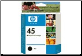 HP45 Inkjet Cartridge 51645A BLACK