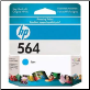 CB318WA HP-564 Ink Cartridge Std-Yield CYAN