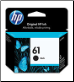 HP 61 CH561WA Ink Cartridge Std-Yield BLACK