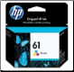 HP61 CH562WA Ink Cartridge Std-Yield TRI-COLOUR
