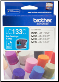 Brother LC133C Hi-Yield Ink Cartridge LC133 CYAN