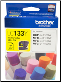 Brother LC133Y Hi-Yield Ink Cartridge LC133 YELLOW