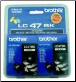 Brother LC47 Inkjet Cartridge BLACK TWIN PACK LC47BK2PK